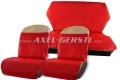 Lot de housses de sièges, rouges&blanc,cuir artificiel, cpl.