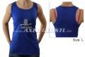 Damen-Shirt, Motiv Axel Gerstl Classic Logo ärmellos/blau