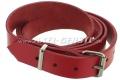 Lederriemen / Gurt für Gepäckträger (135 x 2,5 cm), rot