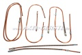 Bremsleitungs-Satz, kurzer Nippel/Kupfer