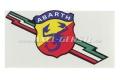 Aufkleber Abarth (m. Blitz / Freccia Tricolore)
