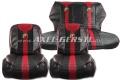 Sitzbezüge rot/schwarz Abarth, Kunstleder kpl. vo. & hi.