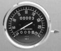 Giannini speedometer, 80 mm, black dial